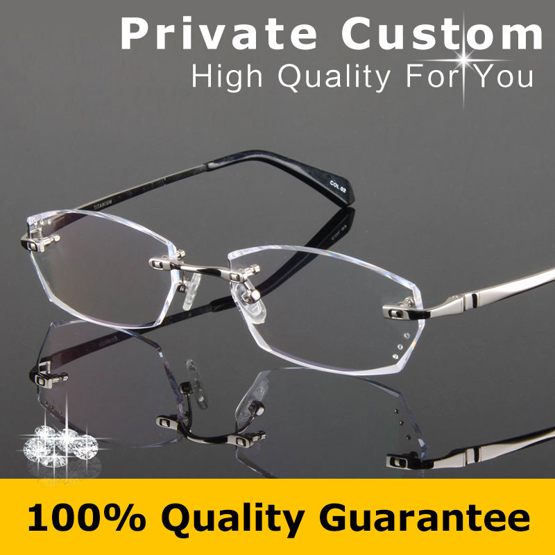 ce76e552ad Luxury glasses man optical eyeglasses brand designer Diamond cut lens eye  high clear rimless reading Matching myopia eyewear 783-in Eyewear Frames  from ...