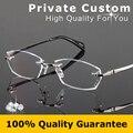 Luxury glasses man optical eyeglasses brand designer Diamond cut lens eye high clear rimless reading Matching myopia eyewear 783