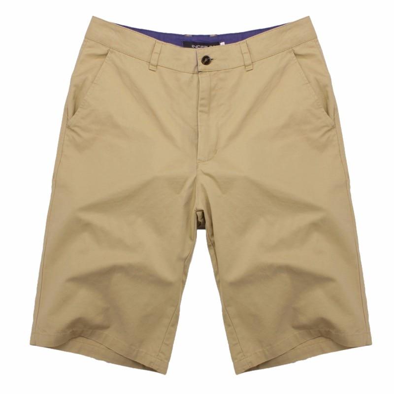2019 Summer Men's Bermuda   Shorts   Casual Cargo   Shorts   Cotton Knee Length Chinos Sweatpants   Shorts   Masculina Big Size 44 Pantalon