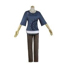 חדש Danganronpa V3 Rantaro העממי קוספליי תלבושות יפני משחק אחיד חליפת תלבושת בגדי חולצה & מכנסיים מתנת שרשרת