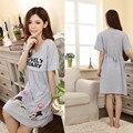 Nightwear roupas de maternidade para mulheres grávidas 2017 verão de algodão vestidos pijamas grávidas roupas de enfermagem roupa gestante