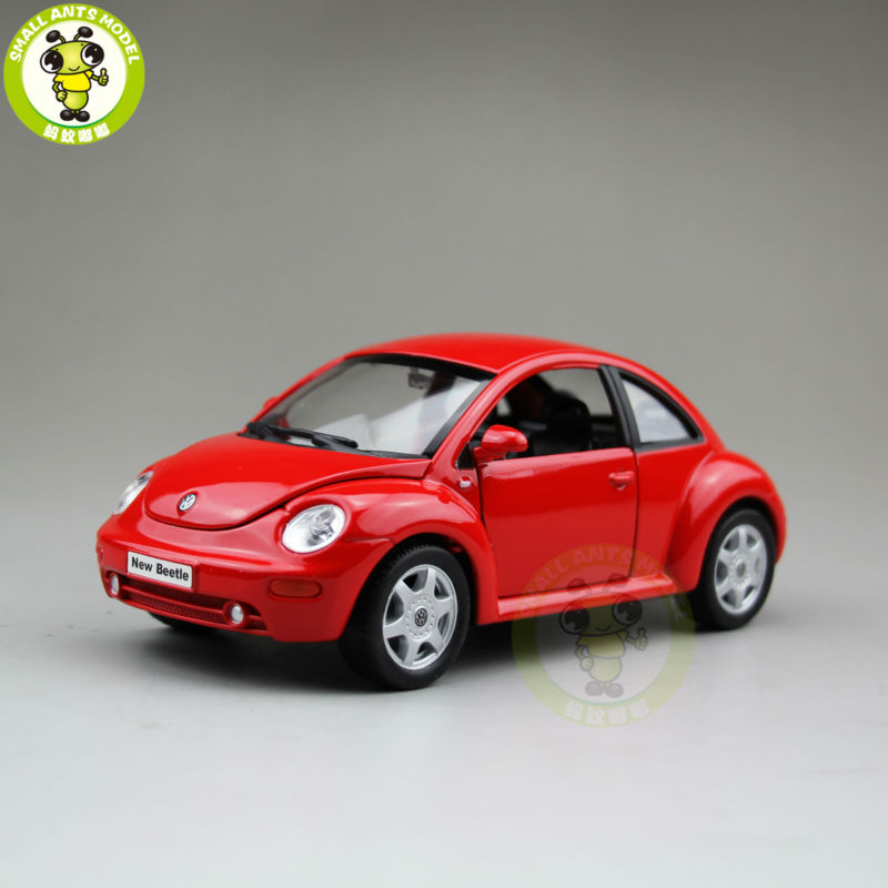 1/24 VW Volkswagen New Beetle Welly 22080 Diecast Model Car Toys for kids children Red
