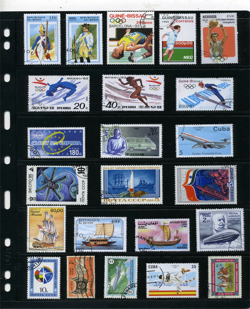 Image 3 - 500PCS Lot Good Condition Postage Stamps Collections From Many Countries With Post Mark Stamps Postal Used For Collection-in Stamps from Home & Garden