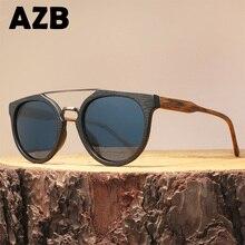 f065da5497 Azb 2017 correo nuevo paquete moda restaurar maneras antiguas protección  natural hombre bambú madera gafas de sol polarizadas HB.