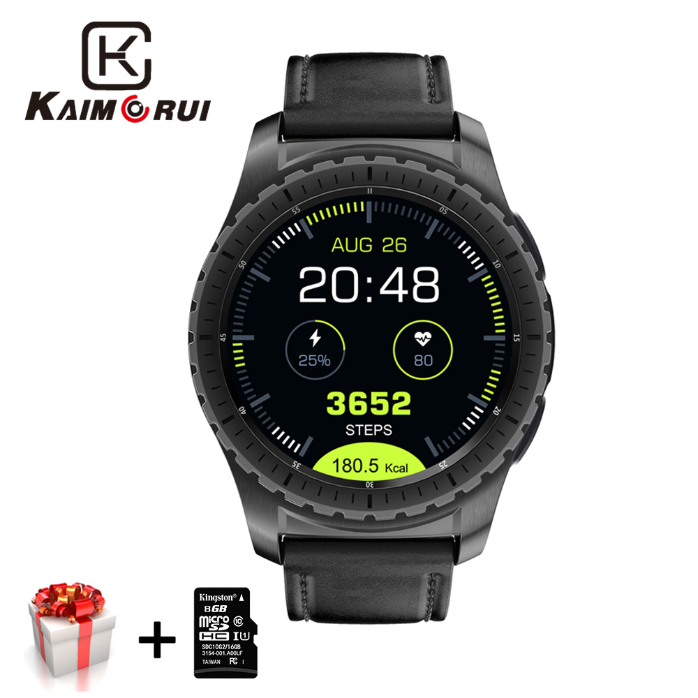 Kaimorui Smart Watch Pedometer Monitor SIM/TF Card Men Bluetooth Smartwatch Fitness Tracker Heart Rate For Android IOS Phone smart watch men women heart rate monitor bluetooth pedometer fitness sports smartwatch with camera support sim card for android