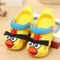 Бесплатная доставка детей сандалии тапочки Летний ребенок отверстие обувь мужской женский мультфильм птица моделирование малышей обувь пляжная обувь