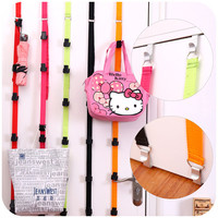 High Quality Multi Functional Adjustable Over Door Straps Hanger Hat Bag Coat Clothes Rack Organizer