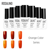 ROSALIND Gel 1S Pure Orange Color Series Nail Gel Polish Soak-off Flavorless colorful Semi Permanent Gel Lacquer