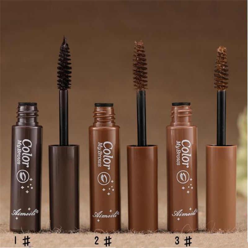 3 вида цветов стойкая Водостойкая тушь для бровей, крем для бровей, тени для макияжа, косметические инструменты с кистью