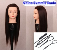 Brown Head Training Mannequins Para Hairdressers Hairstyling Mannequins For Sale Woman Female Heads Manikin Holder
