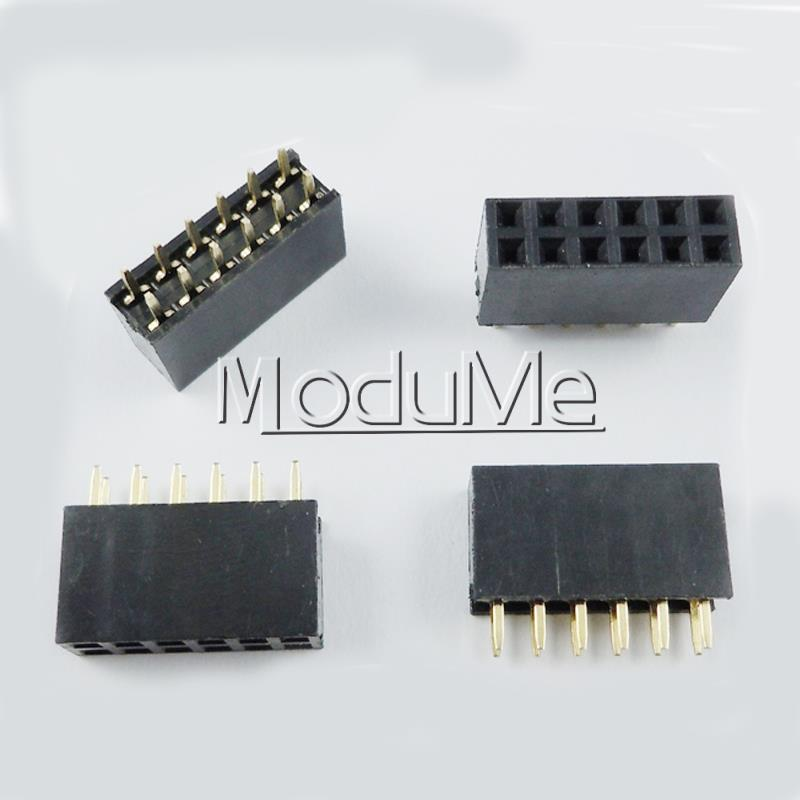 Integrated Circuits Active Components Glorious 50pcs 2x6 Pin 12p 2.54mm Double Row Female Straight Header Pitch Socket Strip