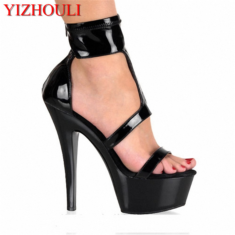 Summer Women's Sexy Platform High heel Shoes 15cm pole dancing Sandals 6 inch Exotic Dancer shoes Wholesale hot sale 6 inch high heel sandals new fashion women dress sexy shoes 17cm crystal shoes exotic dancer slippers