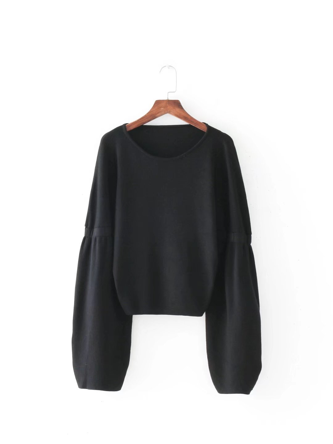 Online Shop Black Red Sweater Women Autumn Winter 2017 Lantarn ...