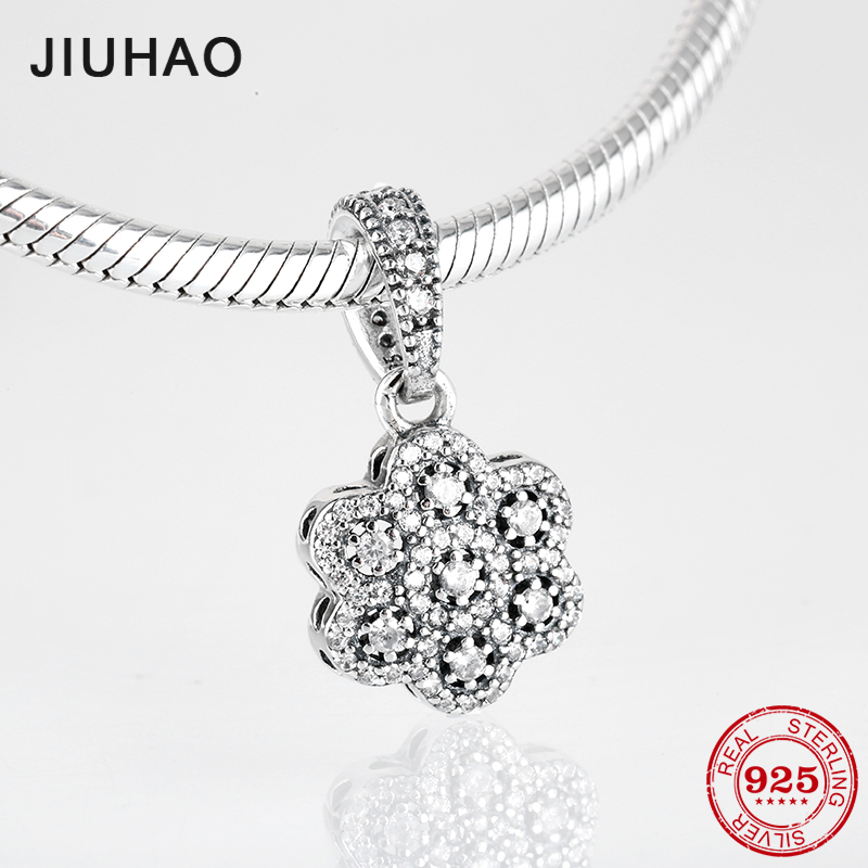 Fashion 925 Sterling Silver Charms sunflower clear CZ beads Pendants Fit Original Pandora Charm Bracelet Jewelry making 2018Fashion 925 Sterling Silver Charms sunflower clear CZ beads Pendants Fit Original Pandora Charm Bracelet Jewelry making 2018