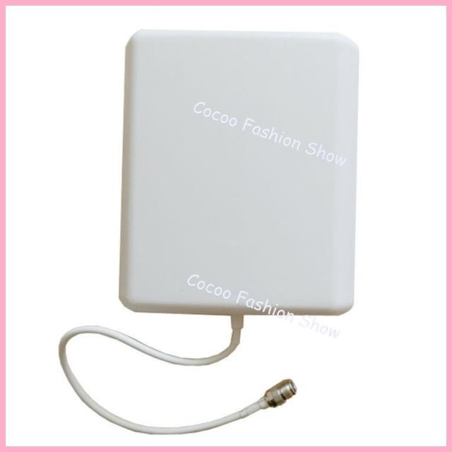 Envío libre 10dBi Indoor Dual Band GSM/3G Panel de Pared de Antena 800-2500 Mhz para el Teléfono Celular amplificador de señal Del Repetidor 4 unids/lote