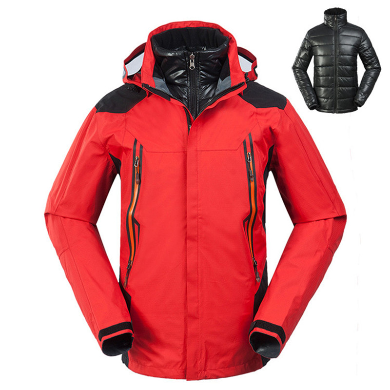 Hiking Down Jacket Men White Duck Down Jacket Men Quick Dry Camping Hiking Jackets Windproof Waterproof 3 in 1 Jacket Mens winter jacket men made of goose feather ski suit jackets men light down men keep warm windproof youth middle age down jackets