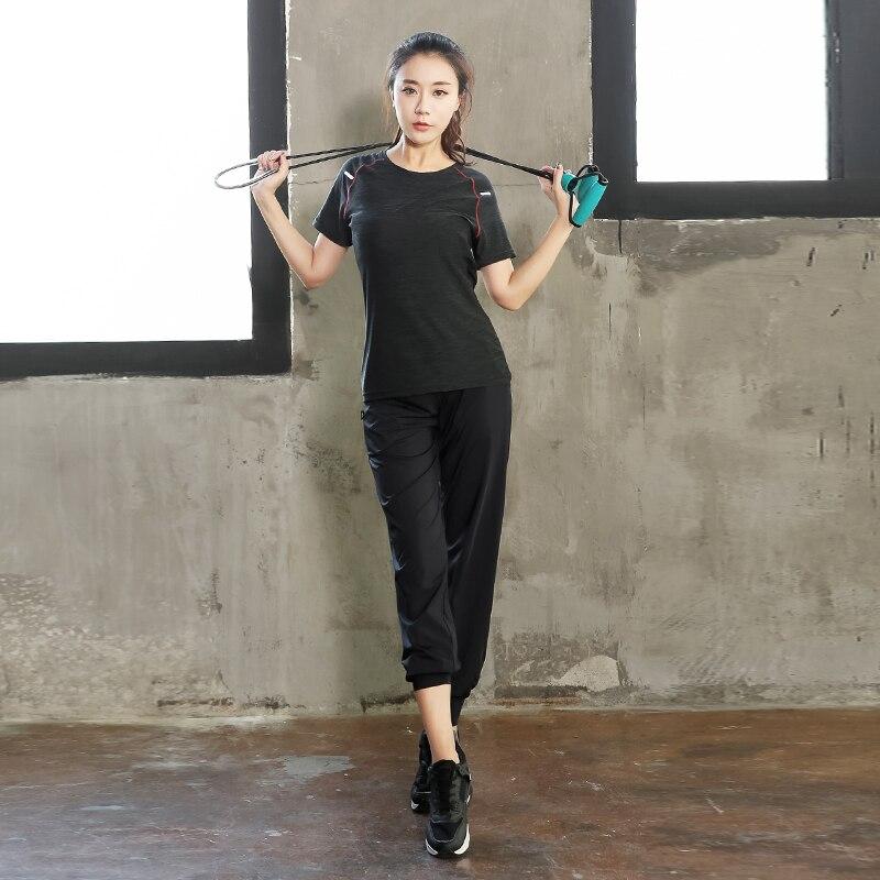 Talla grande mujeres Pro Fitness2 piezas conjunto Leggings + Top ropa de entrenamiento gimnasio deporte correr chica Yoga ejercicio apretado Culturismo l 4XL - 4