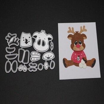 FeLicearts reindeer christmas stamps and dies for scrapbooking albulm photo decorative card making dies new cutting dies
