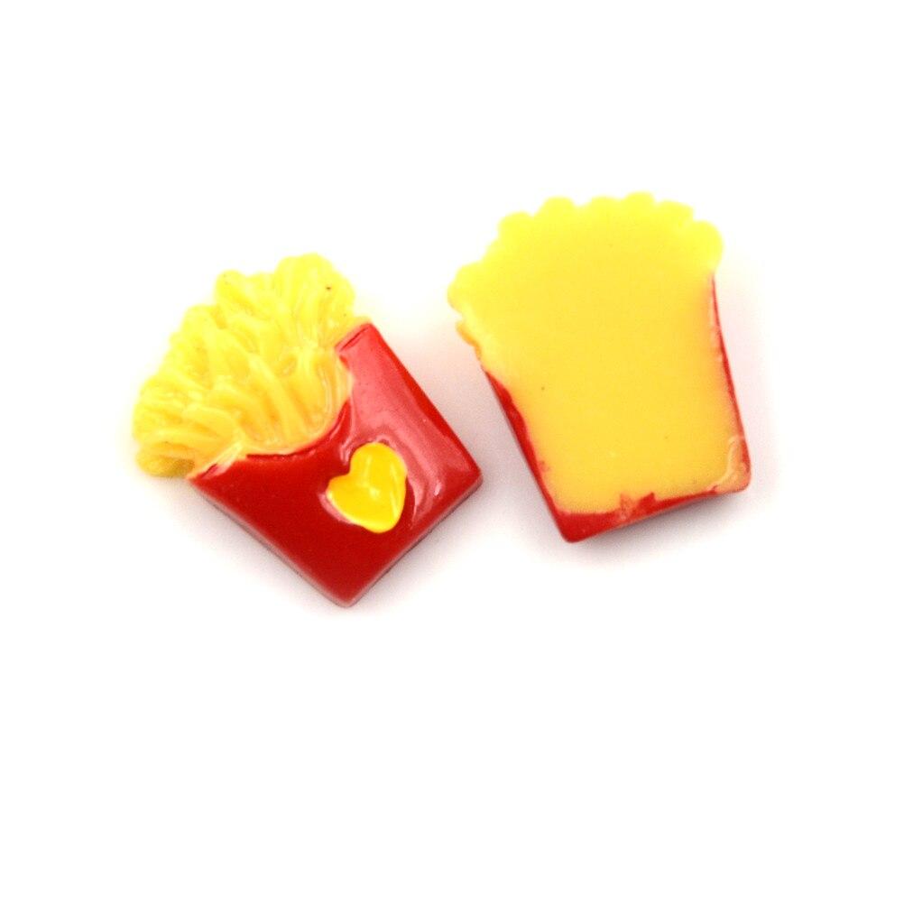 2 Pcs Diy Voedsel Kawaii Plaksteen Hars Cabochons Simulatie Voedsel Frieten Chips Voor Poppenhuis Miniatuur Decoratie Een Compleet Scala Aan Specificaties