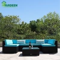 Yardeen 7 Pieces Patio PE Rattan Garden Sofa Set Backyard Furniture Kit Indoor And Outdoor With