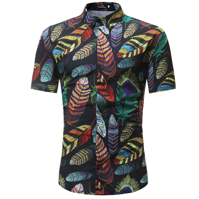 a600bb1eb51 Men Shirt 2018 Summer Style Palm Tree Print Beach Hawaiian Shirt Men Casual Short  Sleeve Hawaii Shirt Chemise Homme Male Camisa