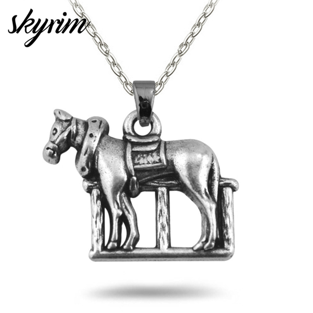 Skyrim Fashion Horse Rely On Stable Charms Lobster Clasp Necklace Adjustable Link Chain 2018 Jewelry For Men Women Gift Horse Design Horse Fashiondesigner Jewelry Aliexpress