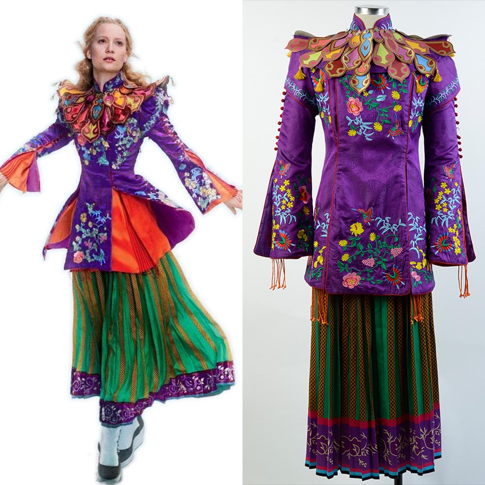 Cosplay Alice Through The Looking Glass Alice Mandarin Costume Full Sets Outfit Cosplay Costume  Halloween Costumes