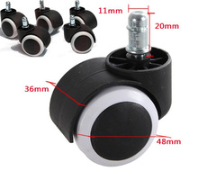 5pc/lot 50KG Universal Mute Wheel 2″ Replacement Office Chair Caster Table Desk Swivel Casters Rubber Rolling Rollers Wheels B65