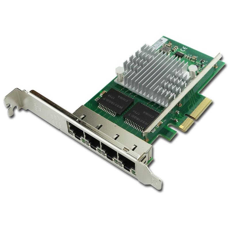 WYI350 T4V2 PCI E X4 RJ45 Qual Port Server Gigabit Ethernet 10 100 1000Mbps Network Interface