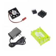 Cheap price Raspberry Pi 3 Model B Accessory Kit Radiator Fan+Heat Sink+5V2.5A Switch Power Supply+Acrylic Case