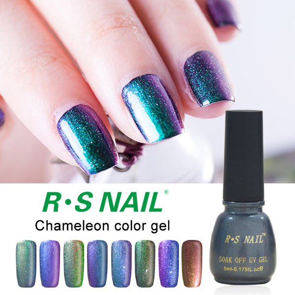 R S Gel Nail Polish Chameleon Paint Esmaltes Permanentes De Uv Vernis A Ongle Glue Varnishes Professional Lacquer In From Beauty