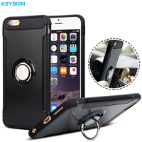 KEYSION Case For IPhone 6 6s 6P 6s Plus Car Holder Stand Magnetic Suction Bracket Finger