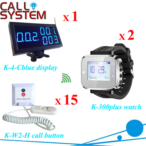 Digital nurse call bell system for hospital receiver 1 nurse station display 2 wrist pager 15 buzzer pager  hospital nurse call system 1 desktop lcd receiver 5 patient bell paging service shipping free