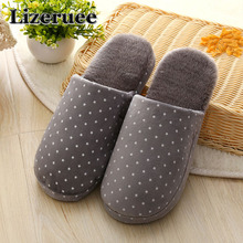 Candy color Warm Home Slippers Men Bedroom Winter Slippers Cartoon Bowtie Indoor Slippers Cotton Floor Home Flax Shoes KS69 dreamshining warm slippers women bedroom winter slippers women cartoon bowtie japanese indoor slippers cotton floor home shoes