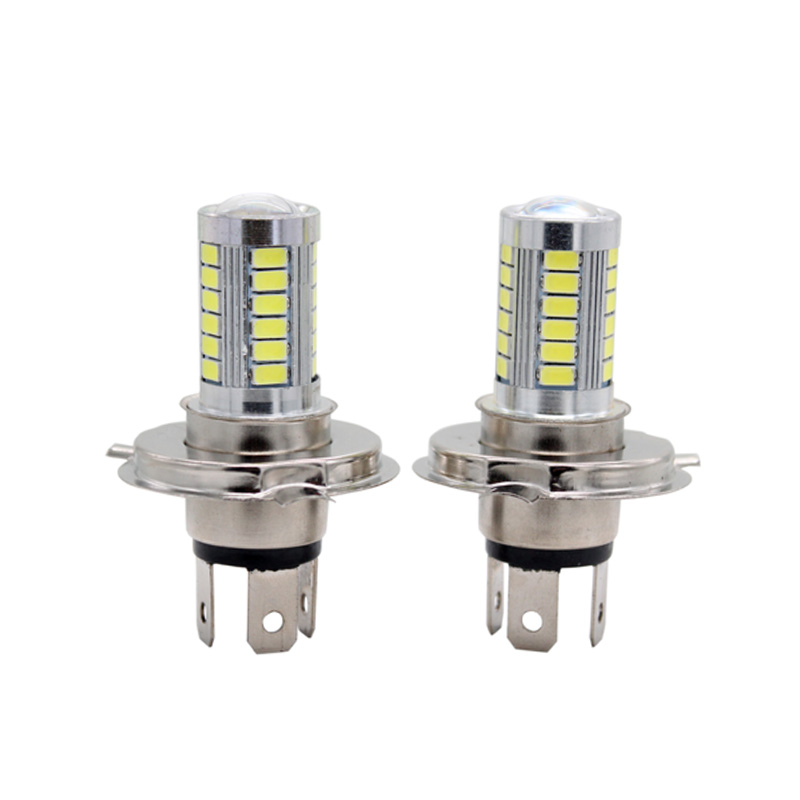 2Pcs/Pair SUNKIA H4 High Bright Dual Beam Hi/Lo 5630 33-SMD Car LED Fog Light Auto Styling Driving Lamp Pure White Bulbs