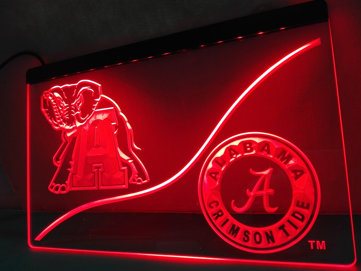 Ld527 Alabama Crimson Tide Led Neon Light Sign Home Decor