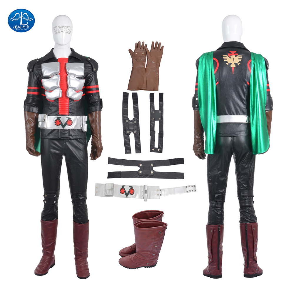 ManLuYunXiao Masked Rider Ichigo Cosplay Costume Roleplay Cosplay Men's Jacket Mask Custom Made Free Shipping Halloween