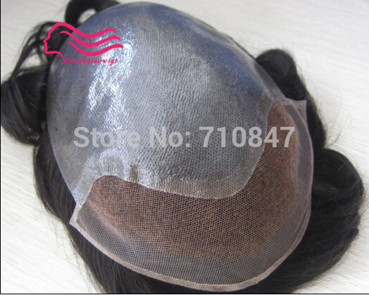 New arrival , 100% human hair BIO base hair replacement men toupee free shipping