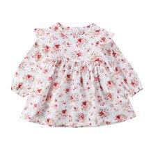 Платье принцессы для маленьких девочек; Одежда для новорожденных и малышей; милое платье с цветочным рисунком для маленьких девочек; рождественское праздничное платье-пачка для малышей
