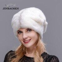 JINBAOSEN 2018 Россия Зима Толстая теплая Высококачественная шапка Рождественская меховая шапка женская меховая шапка полная замшевая шляпа и ро