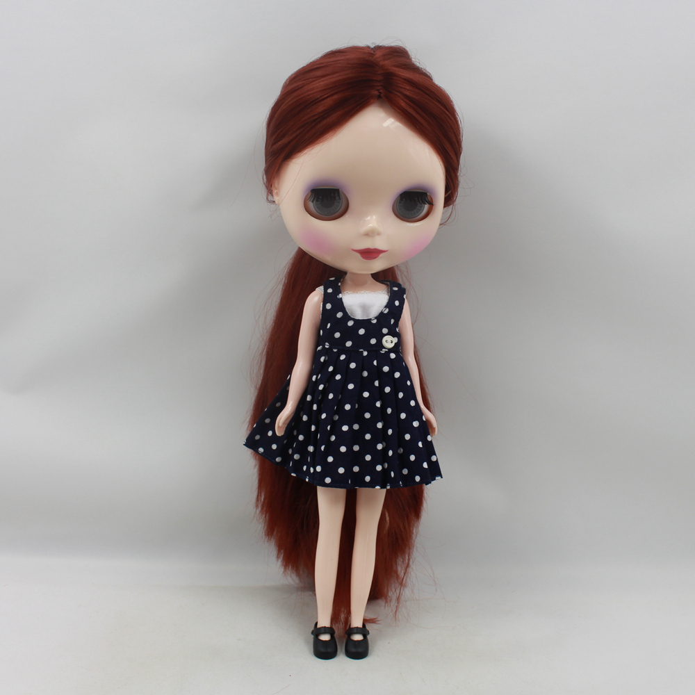 Darmowa wysyłka blyth doll icy licca 300BL9388 bez grzywki/frędzle brązowy głębokie rude włosy 1/6 30cm normalne ciało prezent zabawki w Lalki od Zabawki i hobby na  Grupa 3