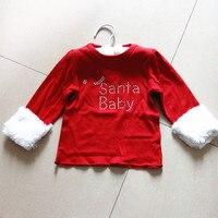 Baby Santa Baby T Shirt Christmas Tee Baby T Shirt Girls T Shirt 6pcs Lot
