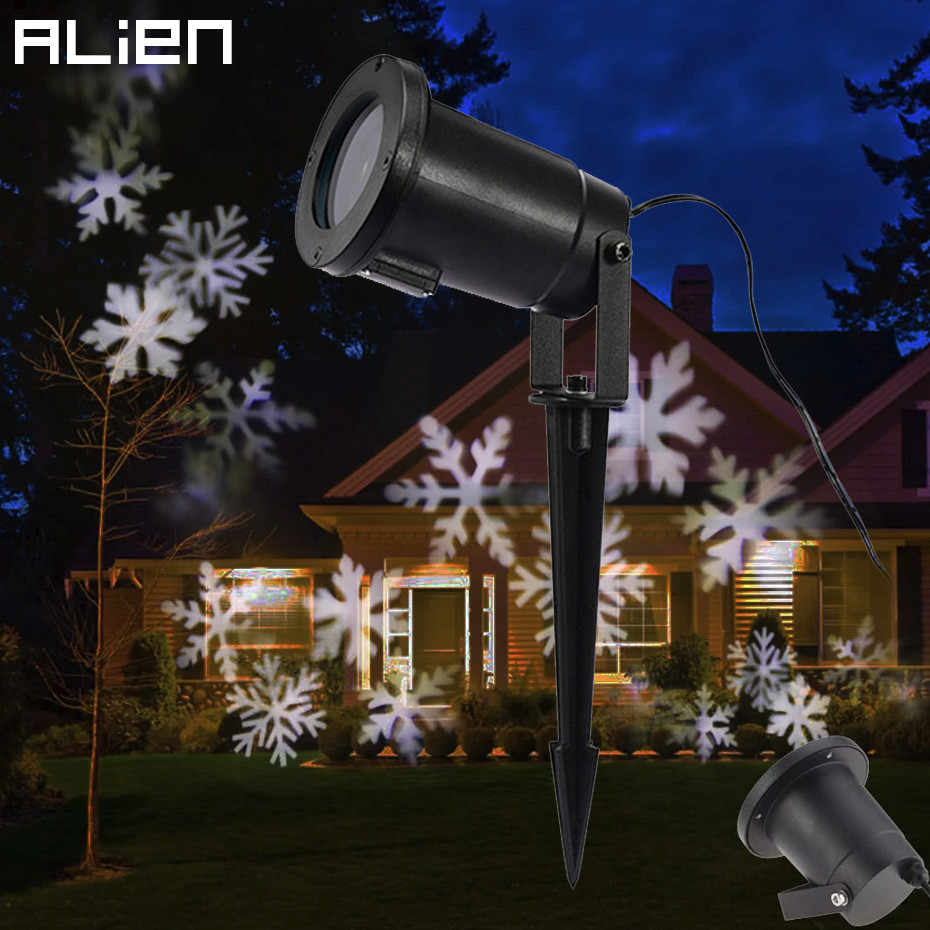 Led Snowflake Effect Lights Outdoor