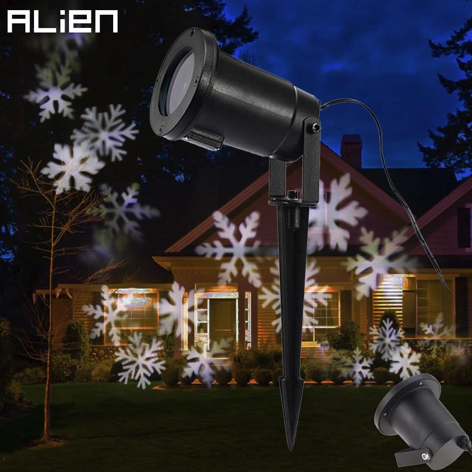 0b4eda82631 Luces de efecto copo de nieve LED proyector de luz de Navidad exterior  jardín exterior vacaciones árbol de Navidad decoración paisaje iluminación  en Efecto ...