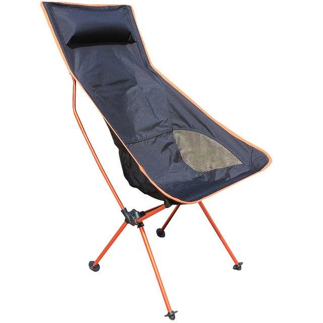 2016 New Orange Beach Chairs Portable Folding Camping Stool Chair Max Load Bearing 150 Kg Silla