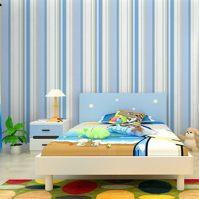 #6193-Colorful Vertical Stripe Non Woven wallpaper,High Quality wall paper for bedroom girls boys kids room home decoration boys girls wallpaper roll blue pink non woven wall paper kids wallpaper classic stripe wall paper child for living room w206