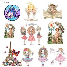 Prajna Angel Iron-On Transfers Unicorn Girls Son of God Patch Tower Stripe On Clothes Ironing Clothing DIY Applique For Kids(China)
