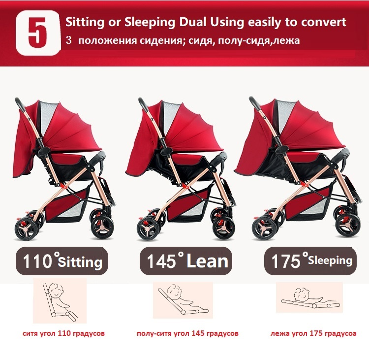 Four Wheels Stroller Steel Frame Eva Wheels Easy To Repair Nice Sld Baby Stroller Scientific Design Folds Easily And Conveniently 0-3 Years 7 Kg Carrying Capacity 25 Kg