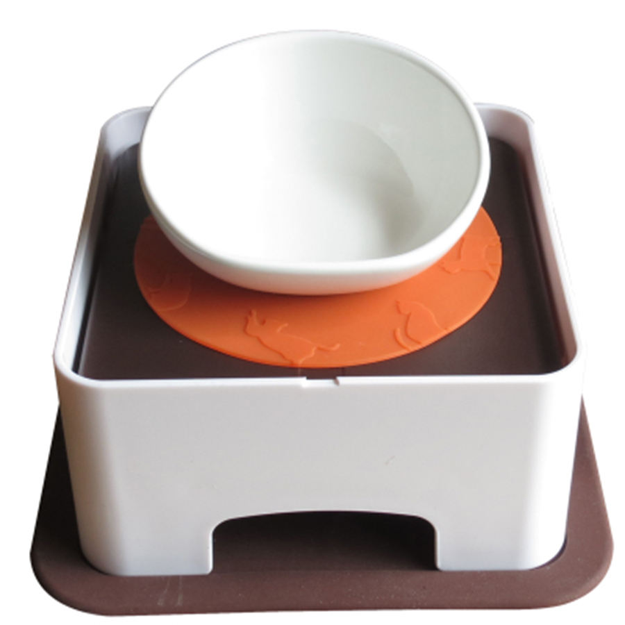 Pet Food Container  Puppy Dog Drinking Bottle Supplies DogLemi Bowls Mat Cute Bowl 50GP010