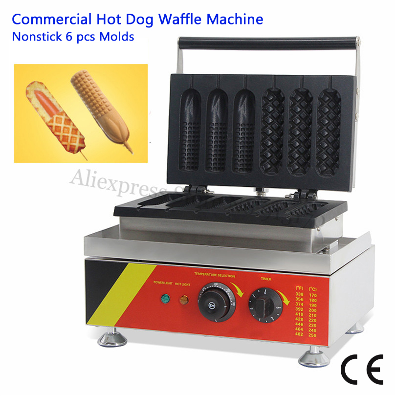 Nonstick Lolly Waffle Baker Maker 3 Hotdog Waffle + 3 Corn Hot Dog Waffle Machine Electirc Fast Food Machine 220V 110V 528 free shipping 6pcs commercial nonstick 110v 220v electric digital 22cm lolly waffle dog on a stick machine maker iron baker